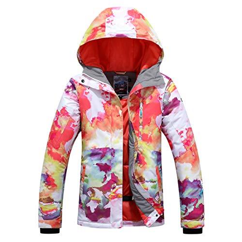 APTRO Damen Skijacke warm Jacke gefüttert Winter Jacke Outdoor Funktionsjacke Regenjacke Weiß 9514 M