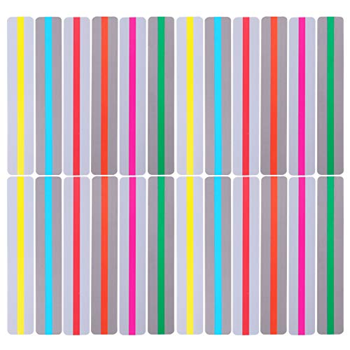 Kingrol 24 Pack Guided Reading Strips, Highlight Strips Colored Overlay Bookmarks Help with Dyslexia for Crystal Children, Teacher, Dyslexia People