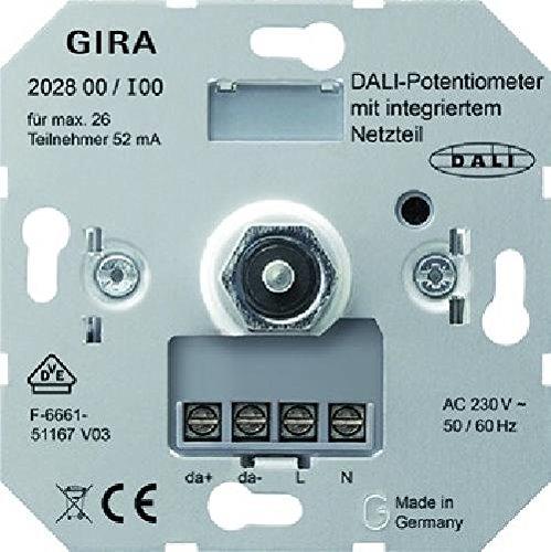 GIRA 202800 Dimmer Dimmer und Einbauschalter Metallisch