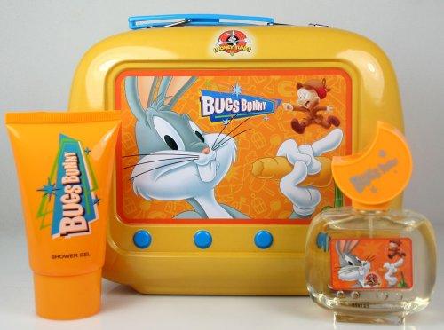 Looney Tunes Bugs Bunny 50ml Eau de Toilette Vaporisateur / 75ml Gel Douche / Tin
