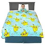 Franco Kids Bedding Super Soft Plush Throw Blanket, 62' x 90', Pokemon