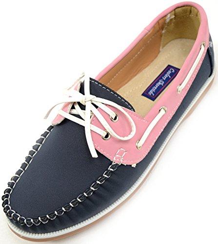 SNUGRUGS - Zapatos de barco para mujer, informales, para verano, vacaciones, para barco, color Rosa, talla 41 EU