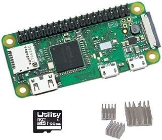 Raspberry Pi Zero WH GPIOピンヘッダー ハンダ付け済み Wi-Fi & Bluetooth(ヒートシンク、SDカード32GB(Raspbian Buster Liteインストール済)付き