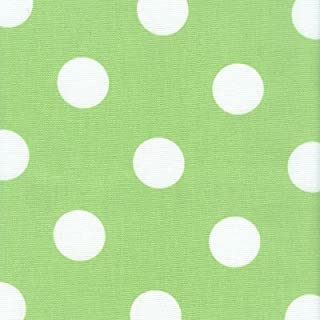 54'' Polka Dot Lime Green/White Indoor Outdoor Fabric by The Yard