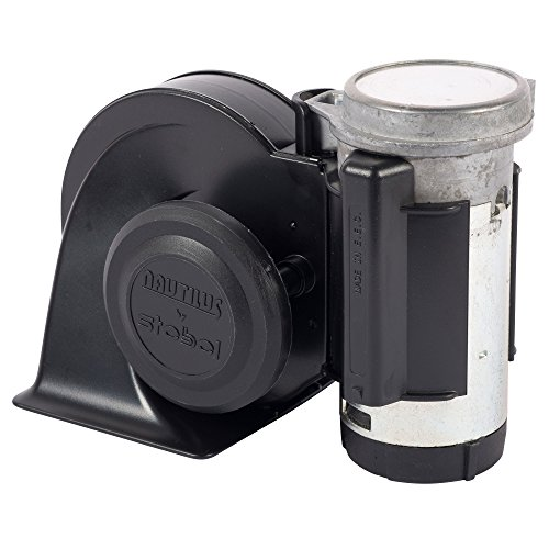Stebel NAUTILUS Black 24V  twin tone air Horn