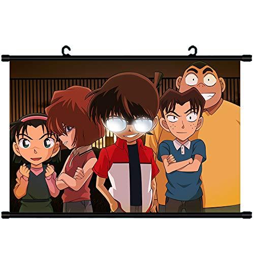 JIAJIAFU Detective Conan Animation Surrounding Ito New Maori Strange Theft of Kid Gray Original Mourning Scroll Hanging Painting Custom 14-50X75 Art Cloth