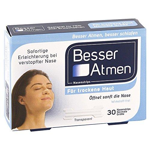 BESSER Atmen Nasenstrips transp.normale Groesse, 30 St