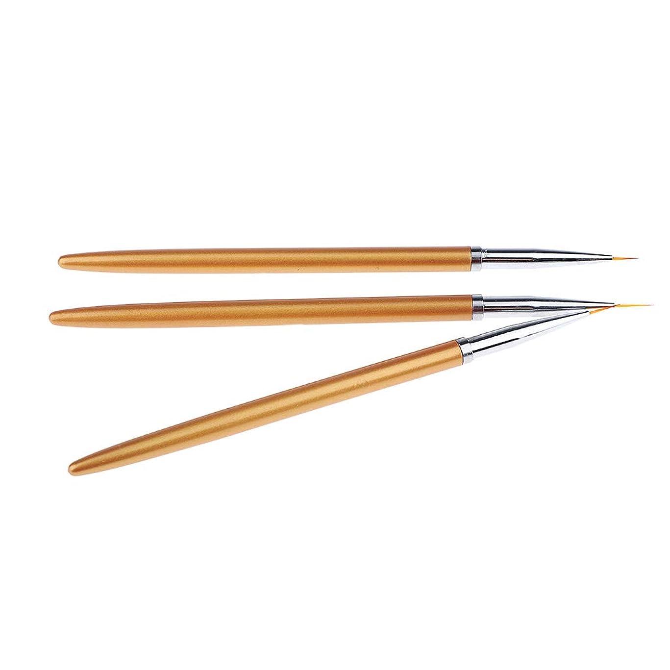 結晶杖ランダムSM SunniMix ネイルアートブラシ 絵画ペン プラスチック ネイルアートペンブラシセット 3本