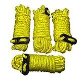 ToCi - Corda di tensione per tenda, 4 mm, lunghezza 3,8 m, 4 pezzi