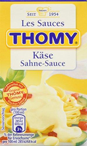Thomy Les Sauces Käse Sahne-Sauce, 6er Pack (6 x 250 ml)