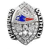YMQUU Jeu de Rugby Atteindre la Bague personnalisée 2004 Nouvelle Angleterre Réplique Bague 9-13 Taille Souvenirs Réplique Bague de Mouvement avec boîte en Bois 13#