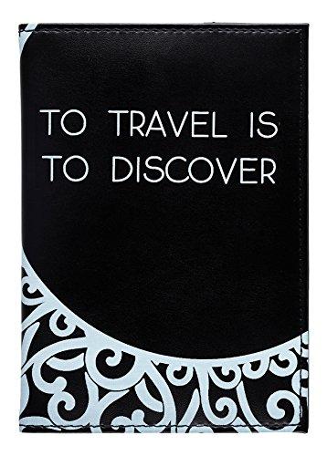 LAROOM paspoort-etui, beschermhoes van PU-kunststof en polyester, zwart