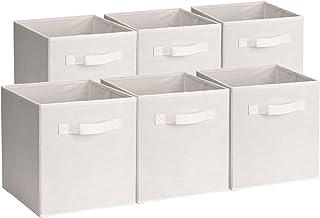 [Amazonブランド] Umi.(ウミ) 収納ボックス 収納キューブケース 6点セット 折りたたみ式 ベージュ