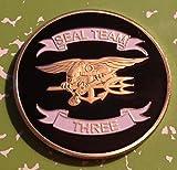 Navy Seal Team Three Military Challenge Art Coin