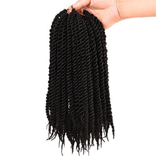 Silike Lot de 6 extensions de cheveux au crochet pour enfants 25,4 cm torsadées sénégalaises