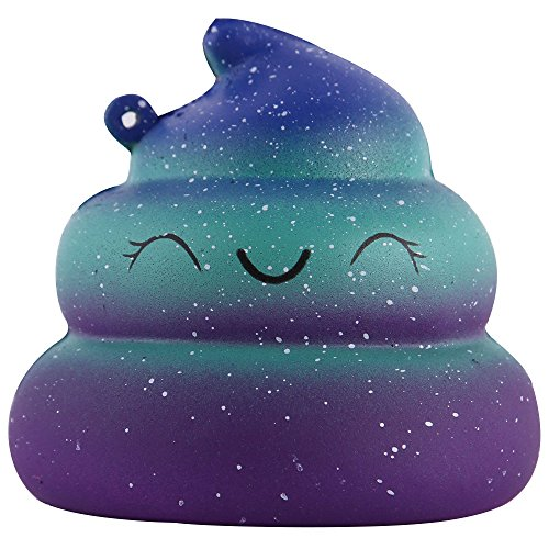 Anboor Squishies Smiling Poo Slow Rising Kawaii Scented Soft Galaxy Squishies Toys