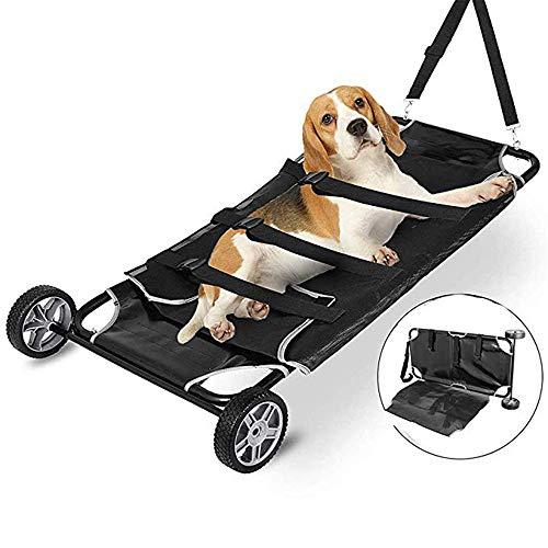 YUXINCAI Huisdier Stretcher Animal Stretcher met Wielen Huisdier Kinderwagen Kan Accommoderen 250 Pond Huisdier Rolstoel