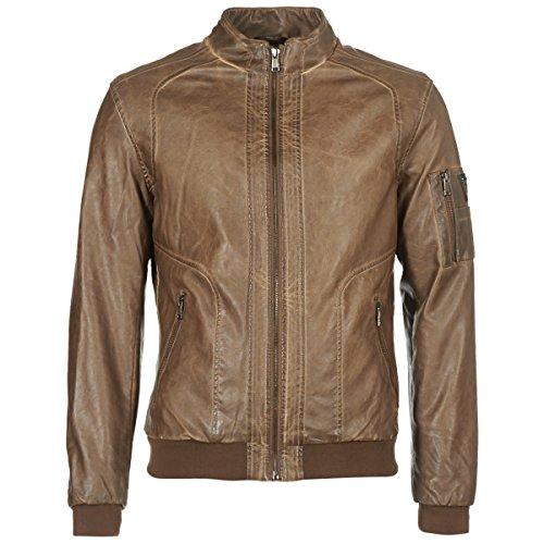 Guess Herren Giubbotti Garment Dye Eco-leat Bomberjacke, Braun (Dark Brown Earth G1f6), X-Large