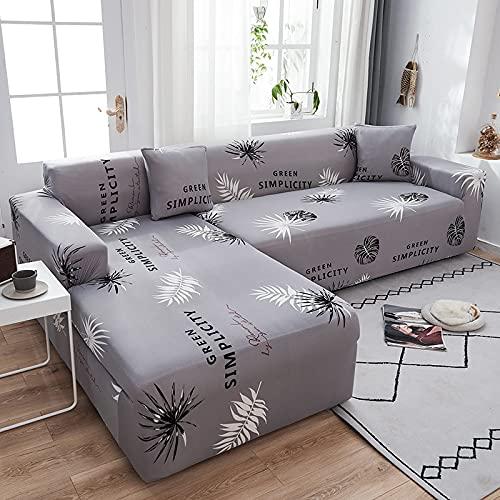 Fundas de sofá elásticas Modernas Chaise Longue para Sala de Estar Sofá de Esquina seccional de poliéster Ajustable Funda A20 4 plazas