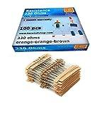 HE Retail Supplies 330 Ohm 1/4w 5% Carbon Film Resistor - Set of