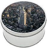 Nueva York New York City NY Manhattan Empire State Building C Caja Redonda Lata Round Metal Tin Box