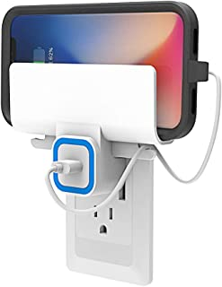 Wall Outlet Charging Shelf/Bracket, Wall Mount Charger Holder for iPhone Charger, Don't Put Your Phone on The Ground or Wet Bathroom Countertop Any More