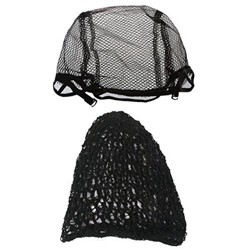 Gazechimp 2x Élastique Dentelle Chapeau De Perruque Filet Crochet Bonnet Tour De Tête Confortable