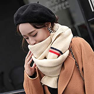 Winter Long Scarf Scarf Women's Winter Wild Dual-use Shawl Spring and Autumn Long Section Thick Warm Winter Autumn and Winter Collar (Color : Gray) Winter Soft Scarf (Color : Beige)