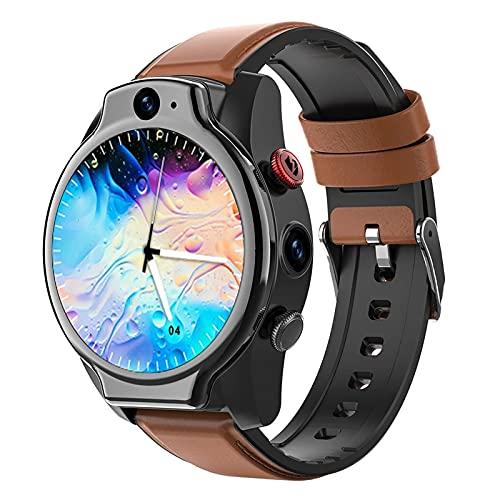 Ake Smart Watch 4G SIM Tarjeta Android 10 Cara ID 4G 64G 5ATM Impermeable 1100 MAH Batería Doble Cámara GPS Smartwatch