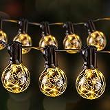 Guirlande Guinguette Extérieure LED, Ulinek Guirlande Lumineuse 13,5m IP65 36+3 G40 Ampoules Décoration Lumineuse Blanc Chaud pour Soirée Mariage Anniversaire Jardin Terrasse Pergola, Basse Tension