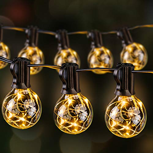 Ulinek Outdoor String Lights, Garden String Lights LED G40 Globe 13.5M Indoor Outdoor Decoration Lighting with 36+3 Bulbs for Patio Yard Bedroom Wedding Party Christmas - Warm White IP65 Waterproof
