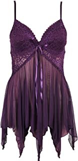 Women Sexy Lingerie Pajamas Lady Underwear with Cotton Cup Nightwear Set 2 Piece Net Yarn See-through Negligees Dresses an...