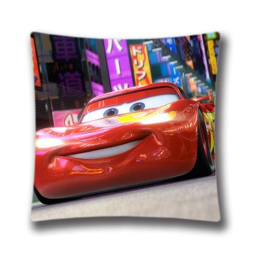 Cars Rayo McQueen tamaño estándar diseño funda cuadrado almohada para Custom funda de almohada con cremallera Invisible en 18x 18inches (doble lados) anasac31094