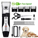 Dog Grooming Clippers, Focuspet 2 Speed Adjustable Dog Clippers...