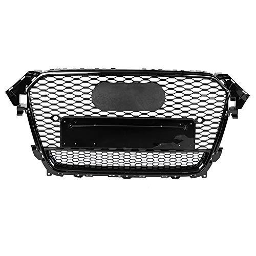 Qii Lu Griglia paraurti auto in plastica ABS anteriore sport Hex Mesh Cappuccio a nido dape lucido per A5//S5 B8 08-12 RS5 Style