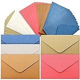 50Piezas Multicolor Pequeño Sobres,Sobres en Blanco de Bricolaje,Sobres de Colores,Una Variedad de Colores Para Que Elijas