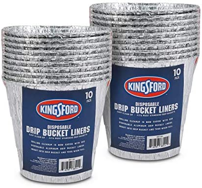 Kingsford BB11981PCS2 Aluminum BBQ and Grill Grease Disposable Drip Bucket Liners 10 Count 2 product image