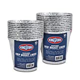Kingsford BB11981PCS2 Aluminum BBQ and Grill Grease Disposable Drip Bucket Liners, 10 Count, 2 Pack (20, Silver