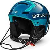 Briko Slalom Casco de esquí/Snow, Adultos Unisex, SHI Blue Light Blue, Medium