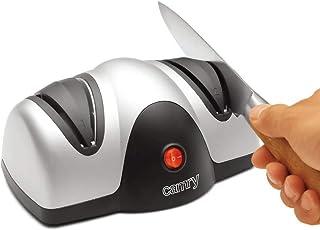 Camry - Afilador de Cuchillos eléctrico, Color Plateado y Negro, Multicolor, Talla única