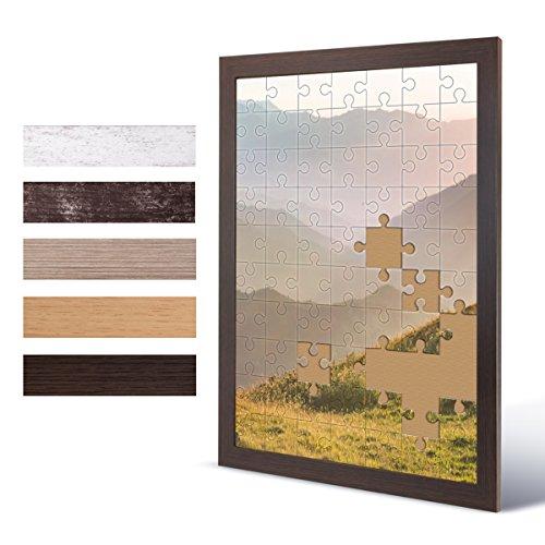 Bildershop-24 Puzzlerahmen London für Puzzle ca. 1500-2000 Teile 75x98cm 98x75cm Wenge (Dekor) mit Acrylglas
