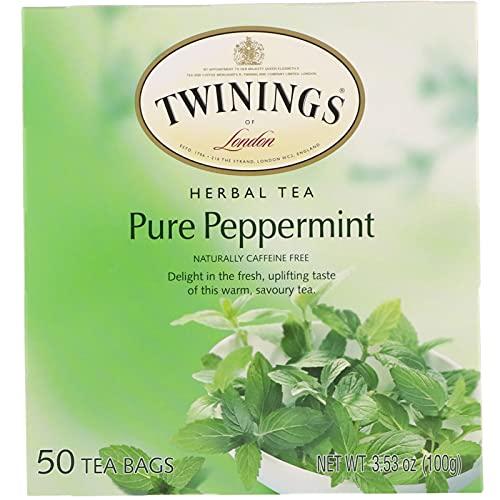 Twinings Pure Peppermint Tea 50 count Tea Bags