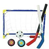 Univegrow, mini set da hockey su ghiaccio con porta e palla da street hockey