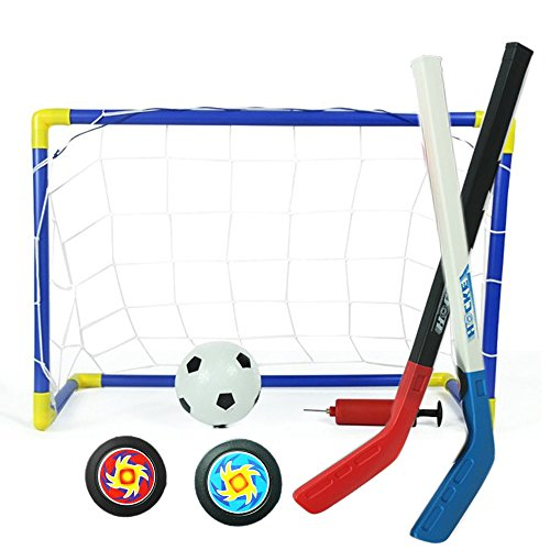 Mini Ice Hockey Ziel Set Fußballtor und Ball Set Street Hockey