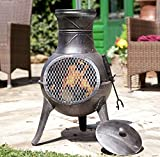 Panama LA HACIENDA Cast Iron Chiminea Garden Patio Heater Log Burner