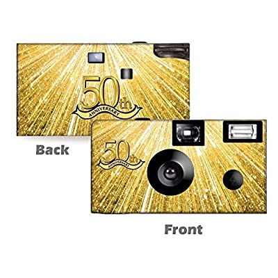 5 50th Anniversary Disposable Cameras, Wedding, Single use, Flash WM-51202-C by CustomCameraCollection
