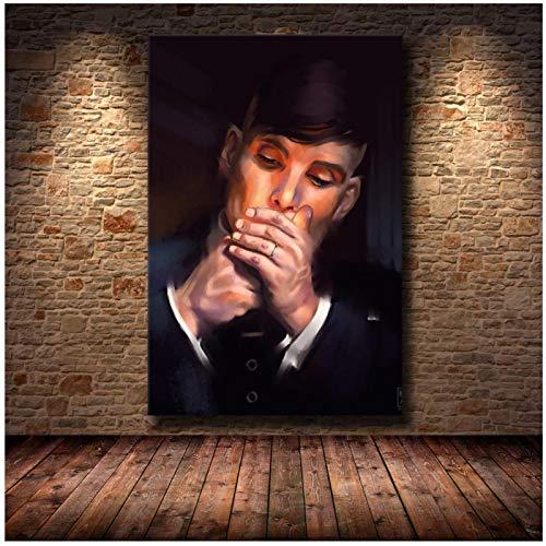 ZQXXX Peaky Blinders Cillian Murphy programa de televisión carteles de películas e impresiones imágenes artísticas de pared para la decoración del hogar de la sala de estar -50x70cm sin marco