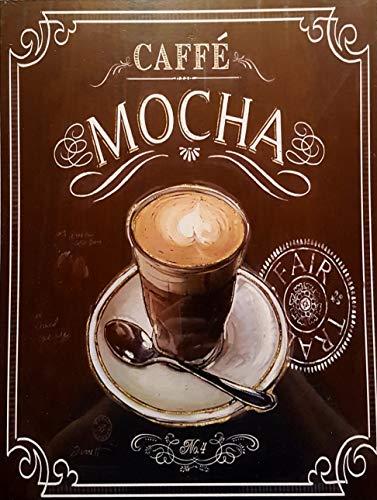 MI RINCON Cuadro de Madera Vintage Cafe Mocha, 30x40 cm
