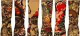 Novelty Tattoo Sleeves Set of 2 (colour and styles may vary)