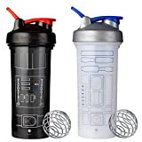 SCS Direct BlenderBottle Star Wars Pro Series Shaker Bottle 28 oz, 2-Pack, R2D2 and Darth Vader Suit